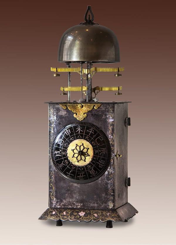 Japanse lantaarnklok Japanese Lantern clock made by Enchizen no Kami